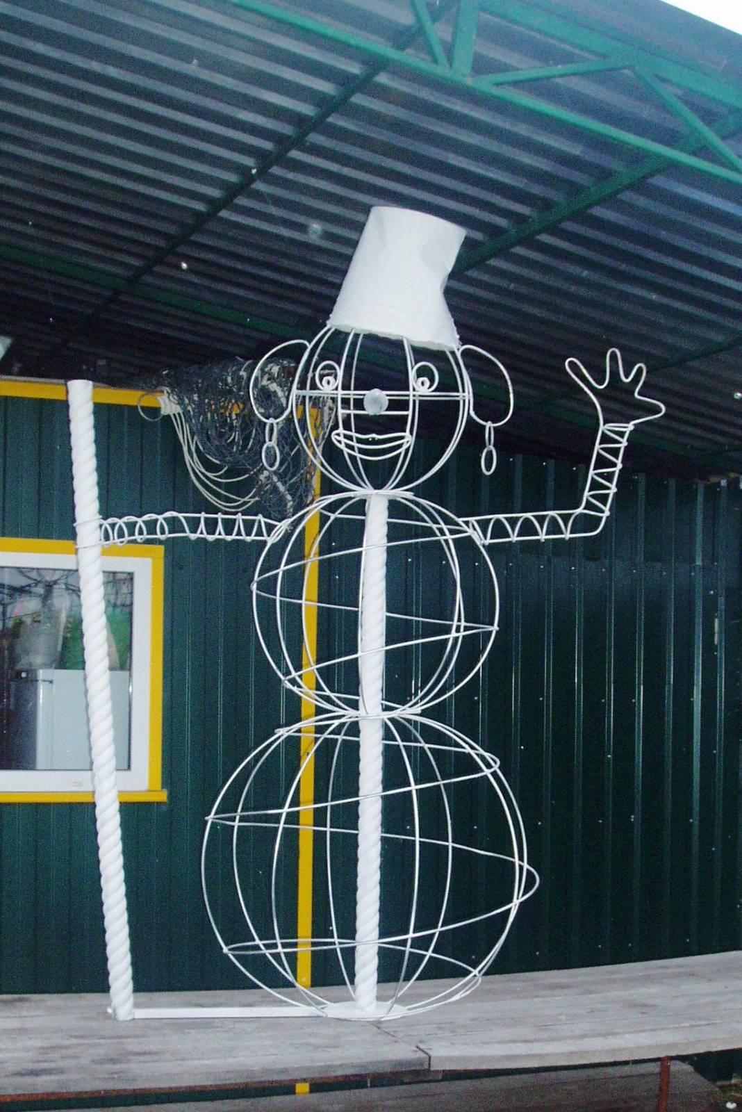 Руки для снеговика из проволоки своими руками