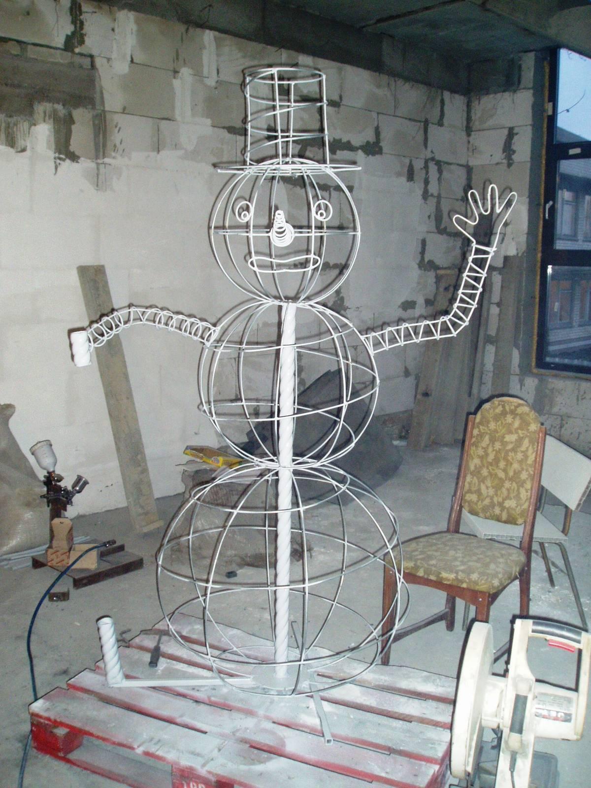 Как сделать снеговик из проволоки